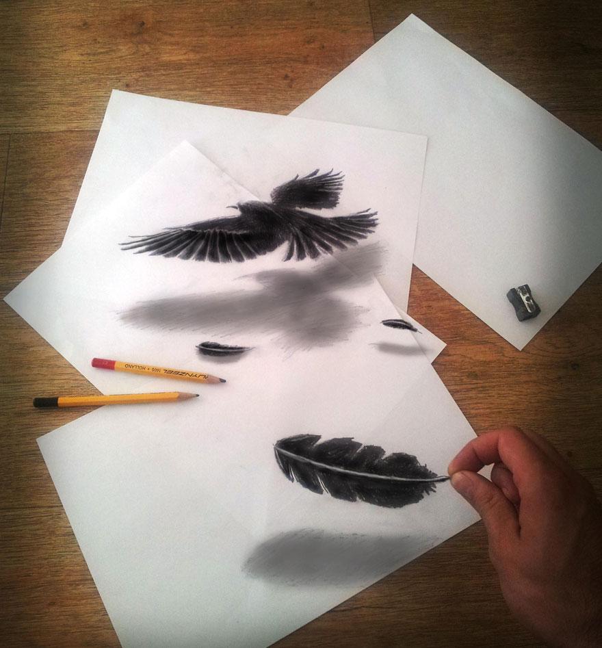 Hướng dẫn học vẽ tranh 3d bằng bút chì dễ dàng mà ấn tượng hình ảnh