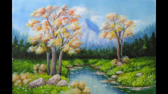 Dạy vẽ tranh phong cảnh sơn dầu hình ảnh 2