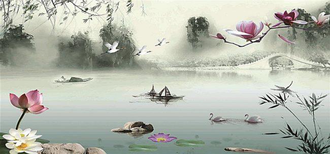 Giới thiệu tranh phong cảnh trung quốc cùng Paint Corner hình ảnh 1