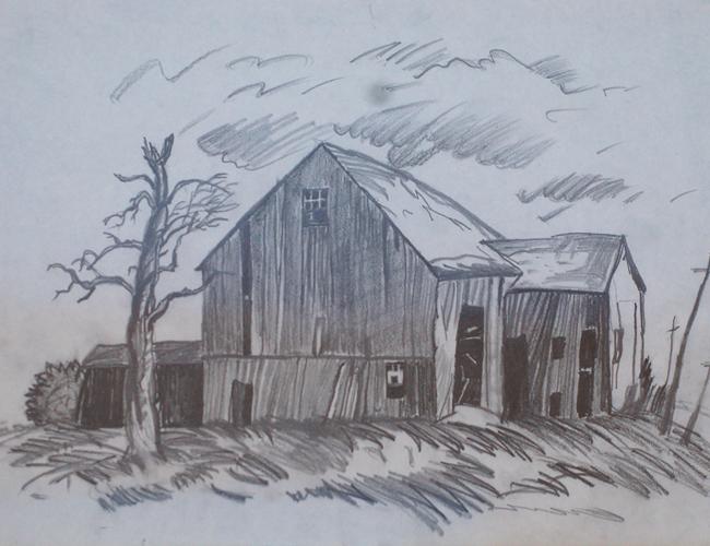 Giới thiệu tranh phong cảnh vẽ chì hình ảnh 1