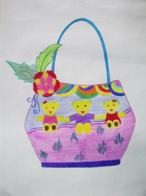 hướng dẫn vẽ trang trí túi xách đẹp và giản dị hình ảnh 2