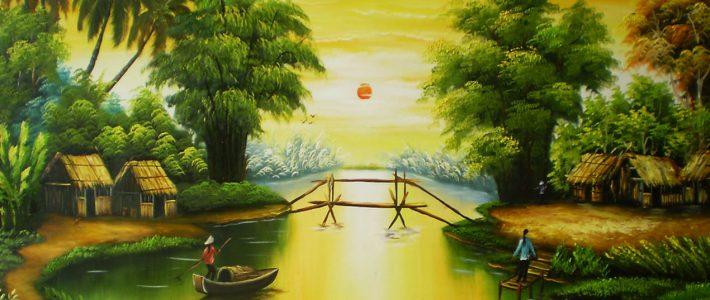 Những bức tranh vẽ phong cảnh đẹp của Việt Nam
