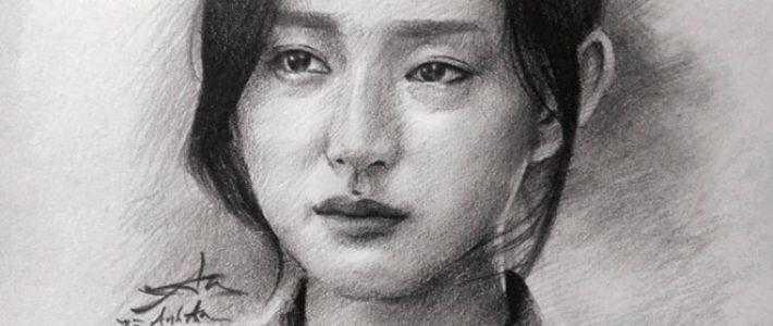 Các bước vẽ chân dung cô gái bằng bút chì nhanh nhất