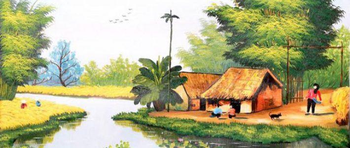 Cùng tìm hiểu cách vẽ tranh màu nước phong cảnh làng quê