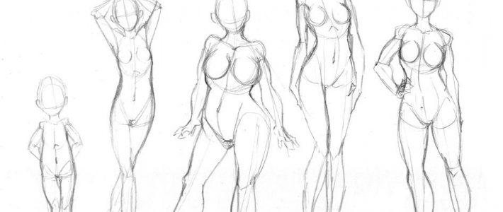 Cách vẽ người cơ bản – bố cục