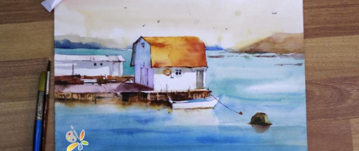 Dạy vẽ tranh phong cảnh màu nước cùng Paint Corner
