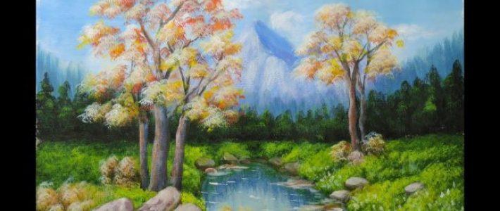 Dạy vẽ tranh phong cảnh sơn dầu tuyệt hay