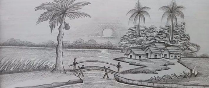 Dạy vẽ tranh phong cảnh vẽ bằng bút chì