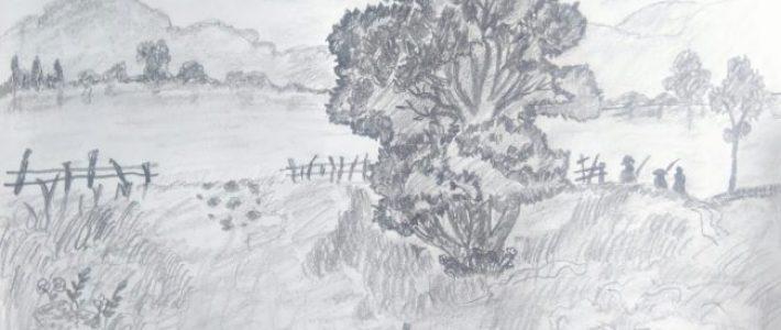Giới thiệu tranh phong cảnh vẽ chì