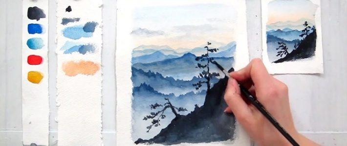 Những lỗi cần khắc phục khi học cách vẽ màu nước