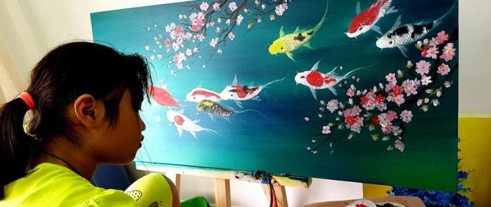 Khóa học vẽ tranh sơn dầu tphcm
