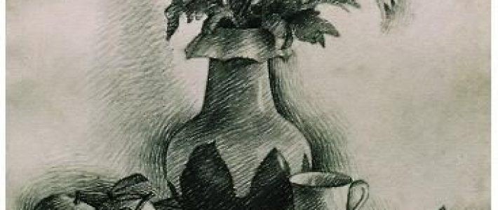 Học vẽ tranh tĩnh vật lọ hoa và quả của học sinh