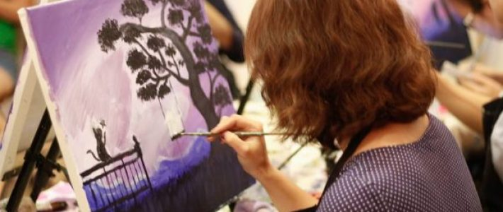 Lớp học vẽ thư giãn cùng Paint Corner- sự tận hưởng và trải nghiệm