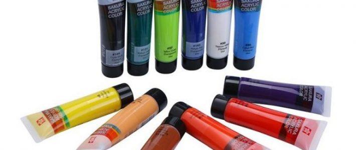 Tìm hiểu về giá màu acrylic