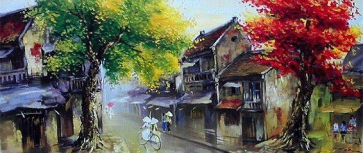 Dạy vẽ tranh phong cảnh hà nội cùng Paint Corner