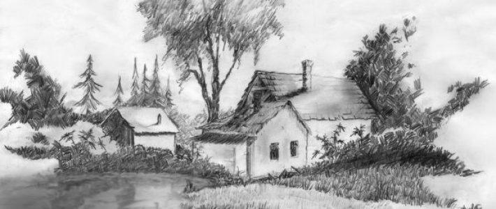 Vẽ tranh phong cảnh bằng chì: Đơn giản mà đầy ấn tượng