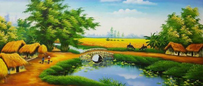 Vẽ tranh phong cảnh mùa hè đẹp